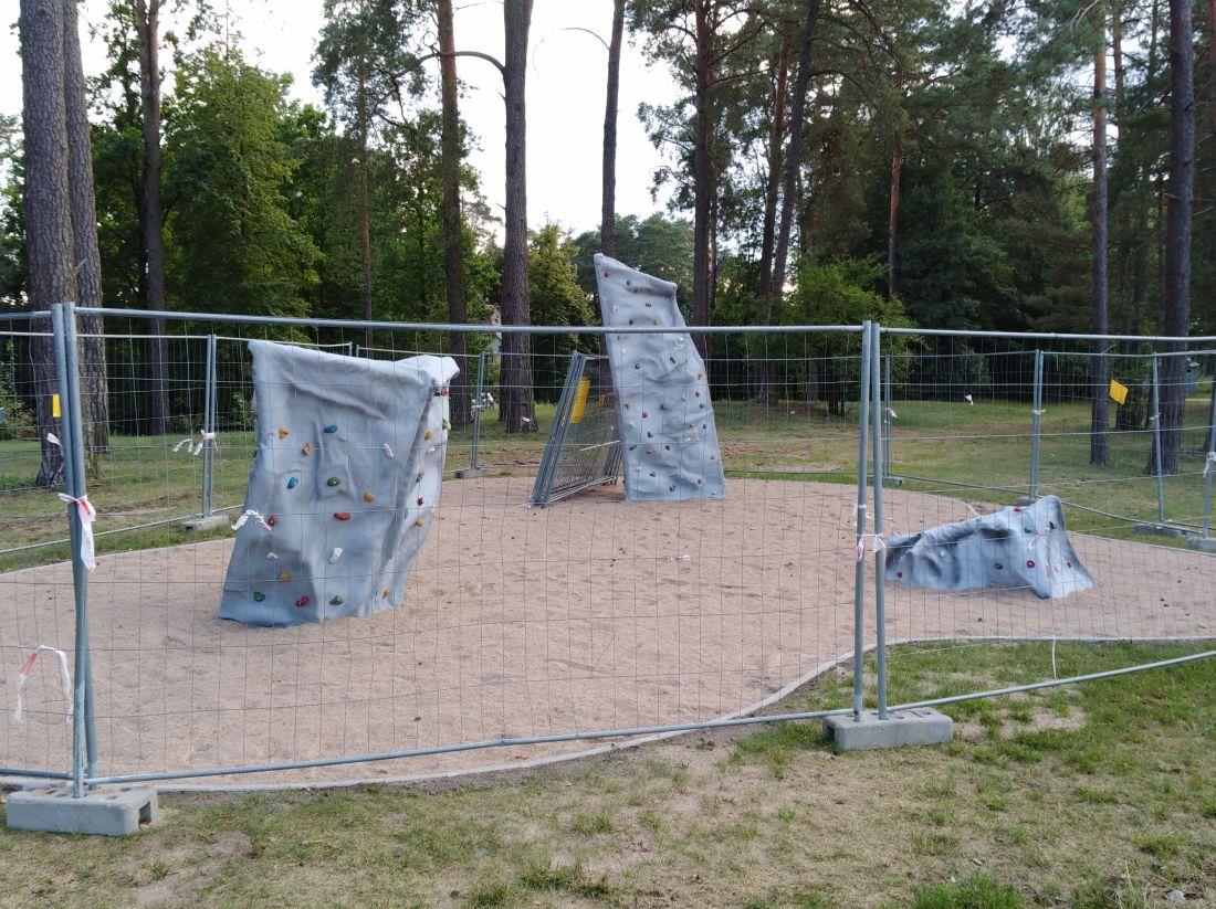Pierwsze skałki wspinaczkowe w Augustowie