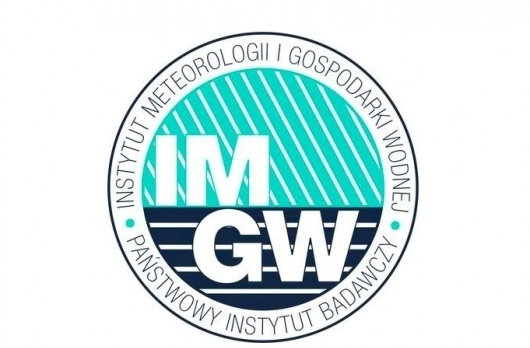 Logo Instytutu Meteorologii i Gospodarki Wodnej - Państwowy Instytut Badawczy
