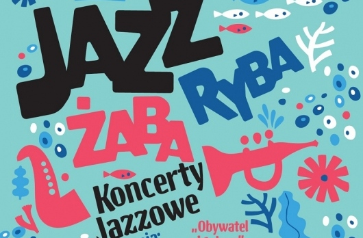 Plakat Jazz Żaba Ryba Koncert Jazzowe