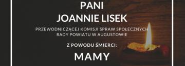 Wyrazy głębokiego współczucia Pani Joannie Lisek