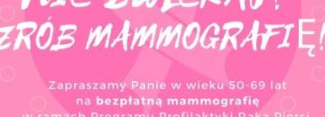 Bezpłatne badania mammograficznye dla kobiet w wieku 50-69 lat w Augustowie