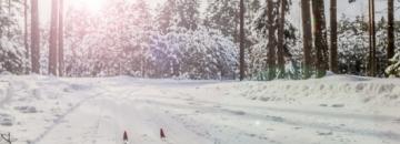 Zima z biegówkami w Augustowie