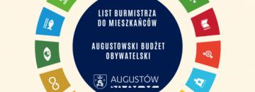 Ważna wiadomość w sprawie Augustowskiego Budżetu Obywatelskiego wprost od Burmistrza Augustowa - Mirosława Karolczuka.