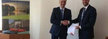 Podpisanie umowy na budowę ulicy Glinki