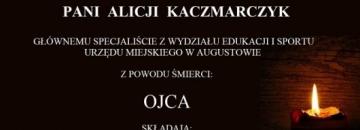 Wyrazy głębokiego współczucia Pani Alicji Kaczmarczyk