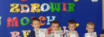 Przedszkolaki w zmaganiach konkursowych na temat zdrowia