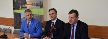 Konferencja prasowa dotycząca gazyfikacji Augustowa