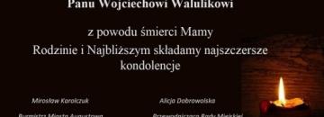 Wyrazy głębokiego współczucia Panu Wojciechowi Walulikowi