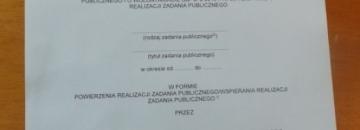 Informacja o złożeniu oferty pozakonkursowej przez organizację pozarządową