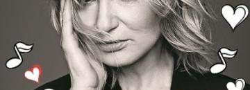 Plakat koncertu,Osiecka Miłosna w wykonaniu Katarzyny Żak, której zdjęcie jesta zamieszczone na plakacie