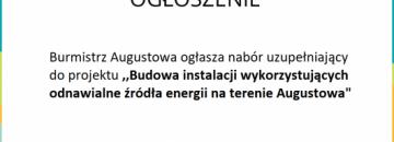 Dodatkowy nabór deklaracji na wykonanie instalacji kolektorów słonecznych