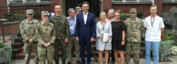 Przedstawiciele wojsk NATO w Augustowie