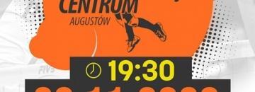 Plakat Mecz UKS Centrum Augustów z SMS PZPS II Spałapiątek 20.11.2020 r. godz. 19.30