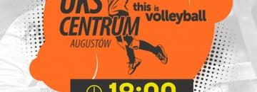 Mecz UKS Centrum Augustów - AZS UWM Olsztyn, sobota 10 października godz. 18.00, plakat