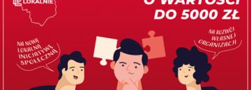 Plakat mikrodotację na wsparcie lokalnej inicjatywy