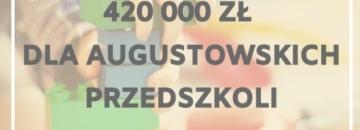 Kolejne środki zewnętrzne trafiądo Augustowa. Edukacja to inwestycja - prawie 500 tysięcy zostanie przeznaczone na program dla miejskich przedszkoli. Przeczytaj artykuł i dowiedz się więcej.