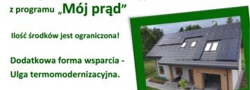 Mój prąd  - program dofinansowania mikroinstalacji fotowoltaicznych